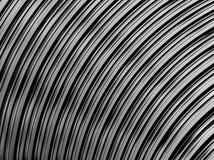 Modello nero techno futuristico di frattale del fondo con la filatura Fotografia Stock