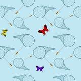 Modello netto della farfalla Immagine Stock