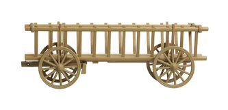 Modello nostalgico del vagone del fieno Fotografia Stock Libera da Diritti