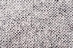 Modello Nubby del tweed in bianco e nero Fotografie Stock