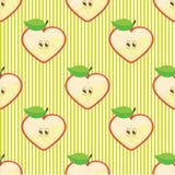 Modello o fondo senza cuciture di vettore della mela di metà Immagini Stock Libere da Diritti