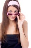 Modello in occhiali da sole dentellare immagine stock libera da diritti
