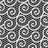 Modello ondulato in bianco e nero del pizzo illustrazione vettoriale