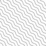 Modello ondulato diagonale senza cuciture di vettore royalty illustrazione gratis