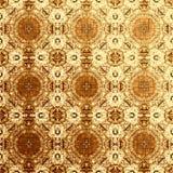 Modello orientale dorato, elementi tradizionali pieghi Fotografia Stock