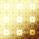 Modello orientale dorato, elementi tradizionali pieghi Immagini Stock