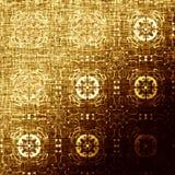 Modello orientale dorato, elementi tradizionali pieghi Immagine Stock