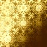 Modello orientale dorato, elementi tradizionali pieghi Fotografia Stock Libera da Diritti