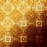 Modello orientale dorato, elementi tradizionali pieghi di festa Immagine Stock Libera da Diritti
