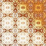 Modello orientale dorato, elementi tradizionali pieghi di festa Immagini Stock Libere da Diritti