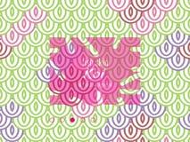 Modello orientale nazionale, pelle multicolore del pesce della carpa Koi Carpa a specchi senza cuciture del modello nel rosa, neg royalty illustrazione gratis