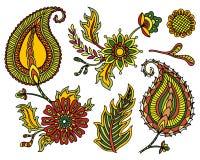 Modello orientale tradizionale di Paisley L'annata fiorisce la priorità bassa Contesto decorativo dell'ornamento per tessuto, tes Immagine Stock