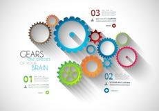 Modello originale di Infographic di stile per visualizzare i vostri dati illustrazione di stock