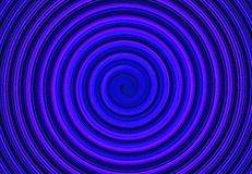 Modello orizzontale della curva del cerchio a spirale astratto blu illustrazione di stock