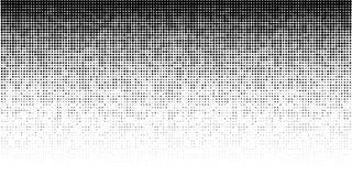 Modello orizzontale di semitono di pendenza Fondo facendo uso di struttura casuale di semitono dei punti Contesto di Grunge tecno illustrazione vettoriale