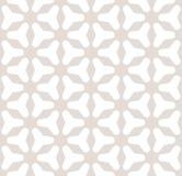 Modello ornamentale con i triangoli, il bianco ed il beige regolari Fotografia Stock