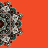 Modello ornamentale con il fondo floreale del cerchio Fotografia Stock Libera da Diritti