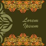 Modello ornamentale del pizzo per le cartoline d'auguri Fotografie Stock Libere da Diritti