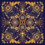 Modello ornamentale di Paisley, progettazione per il quadrato della tasca, tessuto, scialle di seta illustrazione vettoriale
