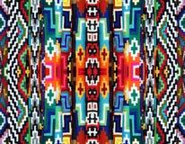 Modello ornamentale luminoso, strisce della lana Immagine Stock