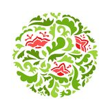 Modello ornamentale rotondo del fiore Immagine Stock Libera da Diritti