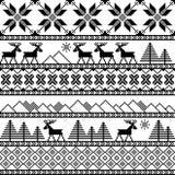 Modello ornamentale tricottato natale tradizionale Immagine Stock