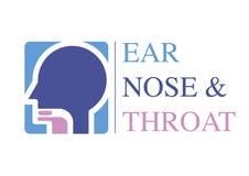 Modello OTORINOLARINGOIATRICO di logo Diriga verso l'orecchio, il naso, specialisti di medico della gola Logo Concept linea icona royalty illustrazione gratis