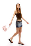 Modello in pannello esterno dei jeans Immagine Stock Libera da Diritti