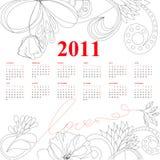 Modello per il calendario per 2011 Fotografia Stock