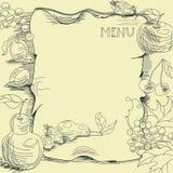 Modello per il menu del ristorante Fotografie Stock