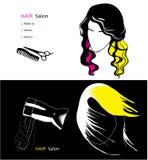 Modello per il salone di capelli Fotografia Stock