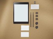 Modello per l'identità marcante a caldo per le presentazioni e le cartelle dei grafici Fotografia Stock