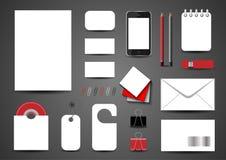 Modello per l'identità marcante a caldo Per le presentazioni e le cartelle dei grafici Fotografie Stock