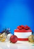 Modello per la cartolina di Natale Fotografie Stock Libere da Diritti