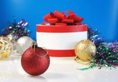 Modello per la cartolina di Natale Fotografia Stock