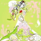 Modello per la partecipazione di nozze Immagine Stock Libera da Diritti