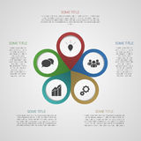 Modello per la vostra presentazione di affari (grafico di informazioni) Immagine Stock