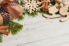 Modello per lo spazio del nuovo anno per testo Modello per la pubblicità, congratulazioni Immagine Stock