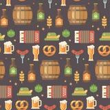Modello piano delle icone di Oktoberfest illustrazione di stock