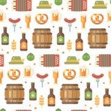 Modello piano delle icone di Oktoberfest illustrazione vettoriale