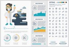 Modello piano di Infographic di progettazione di ecologia Fotografia Stock Libera da Diritti