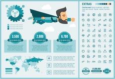 Modello piano di Infographic di progettazione di ecologia Fotografia Stock