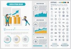 Modello piano di Infographic di progettazione di tecnologia Fotografie Stock
