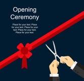 Modello piano di progettazione di cerimonia di apertura per gli eventi ufficiali Fotografie Stock Libere da Diritti