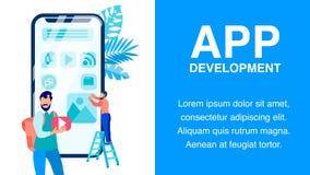 Modello piano di vettore dell'insegna di applicazione di Smartphone royalty illustrazione gratis