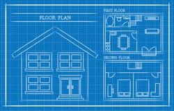 Modello, pianta della casa, architettura Fotografia Stock Libera da Diritti