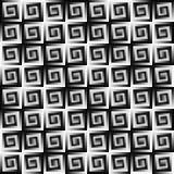 Modello piastrellato in bianco e nero astratto Fondo geometrico di struttura delle mattonelle Vettore senza giunte illustrazione di stock