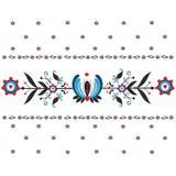 Modello piega floreale Fotografie Stock Libere da Diritti
