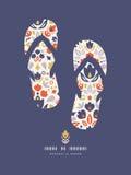 Modello piega ornamentale di Flip-flop dei tulipani Fotografia Stock Libera da Diritti