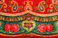 Modello piega slavo d'annata rosso classico, effetto dello spostamento di inclinazione Fotografie Stock Libere da Diritti